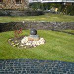 Garten, terrassiert, vom Sitzplatz