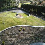 Garten, terrassiert, von Terrasse