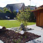 kleiner, geometrischer Garten