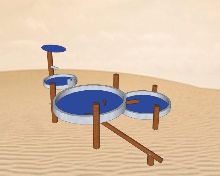 Wasserspiel mit Holz